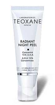 Radiant Night Peel - Teoxane - Skincare for wrinkles, lines. Beauty enhancement, anti-aging, anti-wrinkle, RHA, hyaluronic acid, collagen.